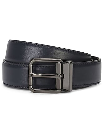30in RRP $700 DOLCE /& GABBANA Belt Black Velvet Leather Gold Buckle Wide 75cm