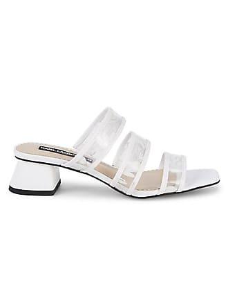 Karl Lagerfeld Maci Transparent Strap Block-Heel Slides