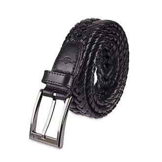 Crosshatch Mens Pretzel Designer Braided PU Leather Metal Buckle Fashion Belt