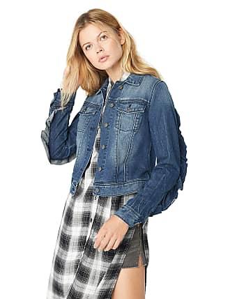 Jessica Simpson Womens Plus Size Pixie Classic Feminine Fit Crop Jean Jacket