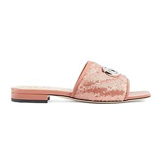 Gucci Womens sequin slide sandal