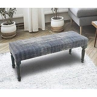 311 X 14 LR Home Modern Black and White Diamond Indoor Bench