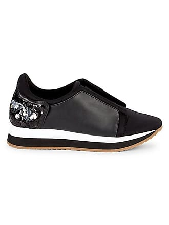 Karl Lagerfeld Embellished Leather Sneakers