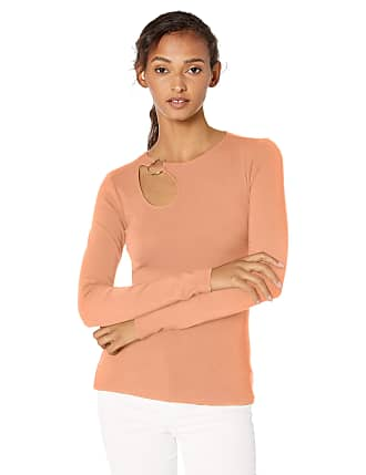 Medium Copper Multi GUESS Womens Long Sleeve Gille Mock Neck Top