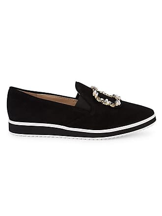 Karl Lagerfeld Kalana Faux Pearl Embellished Suede Loafers