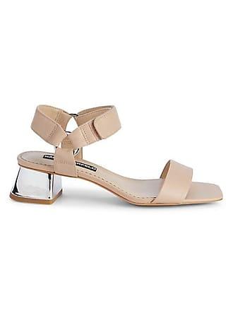 Karl Lagerfeld Morico Leather Block-Heel Sandals