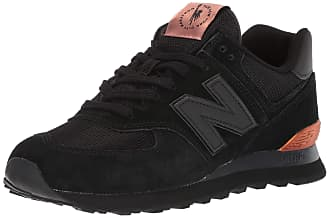 black and rose gold new balance trainers