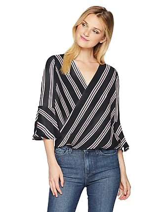 Juniors Byer Womens V-Neck Top with Ladder Back Detail A