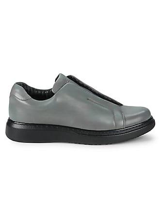 Karl Lagerfeld Flap Leather Slip-On Sneakers