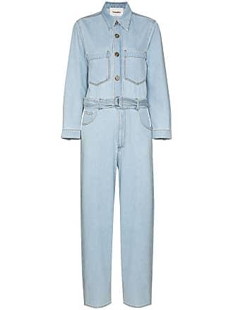 Nanushka Lennon denim jumpsuit - Azul