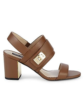 Karl Lagerfeld Jaylynn Leather Slingback Sandals