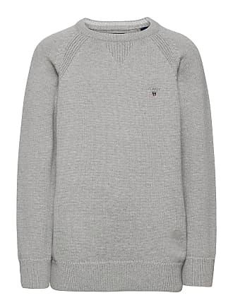 Grå  Cotton Wool Crew Genser  Gant  Strikkejakker - Herreklær er billig