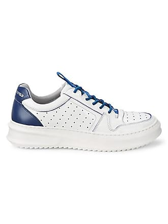Karl Lagerfeld Perforated Leather Platform Runners