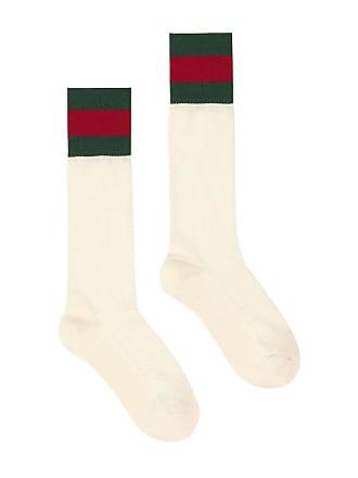 Gucci Par de meias com fita Web - Branco