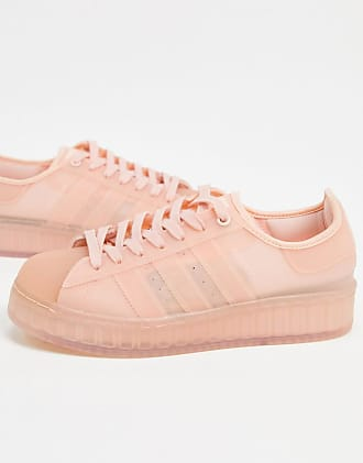 adidas Originals Superstar jelly sneakers in vapour pink
