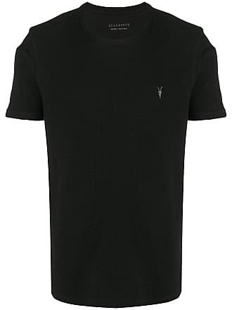 Allsaints Camiseta decote careca com logo bordado - Preto
