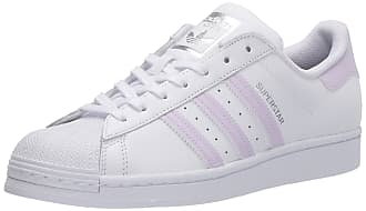 adidas Originals Womens Superstar Shoes Sneaker, White/Purple Tint/Silver Metallic, 9.5
