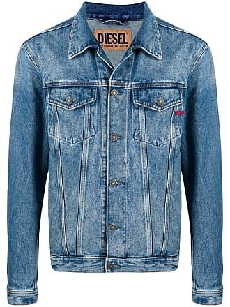 Diesel Jaqueta jeans com lavagem estonada - Azul
