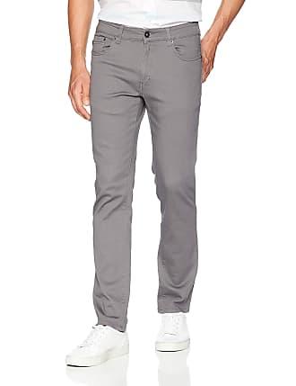 Southpole Mens Flex Stretch Basic Twill and Rinse Denim Pants 34X32 Dark Grey Skinny