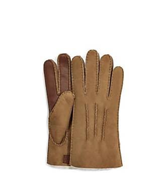 modisch elegant EEM Damen Leder Handschuhe MARIE aus Veloursleder warm