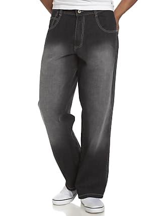 Southpole Mens 6181 Regular Straight Fit Shiny Streaky Denim in Black Sand