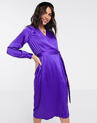Sample SALE Wrapture Dress Purple Silk Halter Wrap Dress