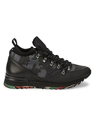 Karl Lagerfeld Camo Mixed-Media Sneakers