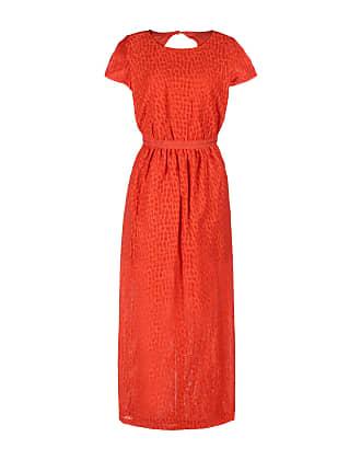 Houston Röd klänning utan ärmar med prickiga detaljer