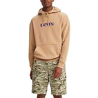S 2XL Original Levi/'s Men/'s Sweatshirt Overhead Batwing Hoodie Jumper Top