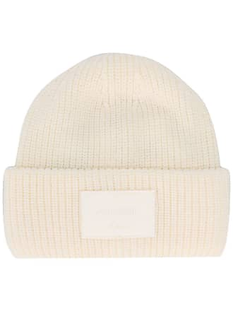 Dondup Gorro com patch de logo - Branco