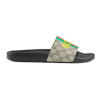 Gucci Mens Fake/Not print slide sandal