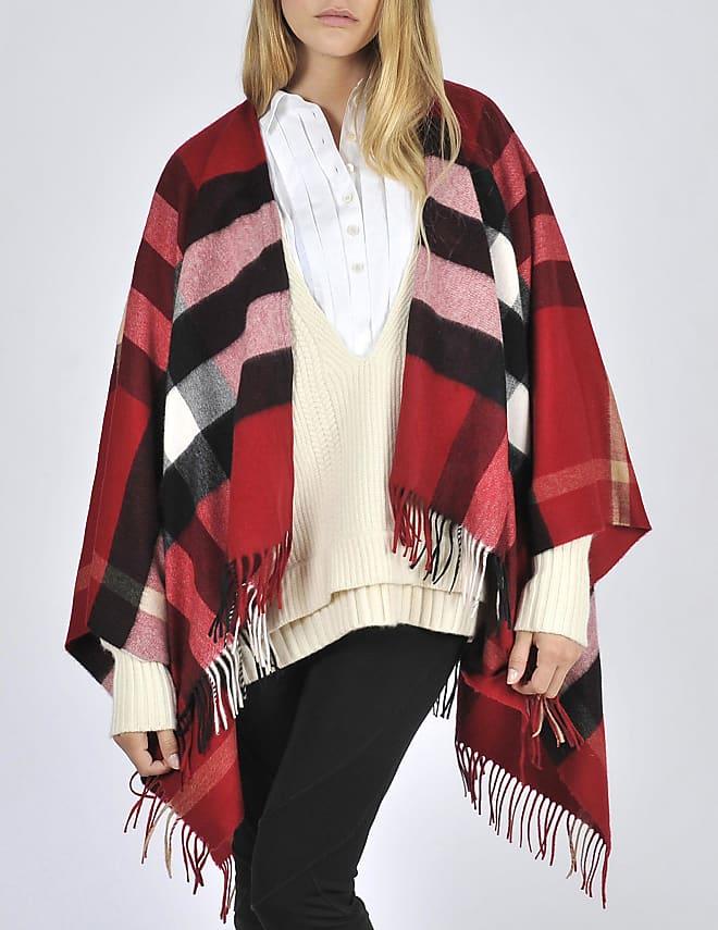 Collette Merino in wool and cashmere check cape 135x140 cm
