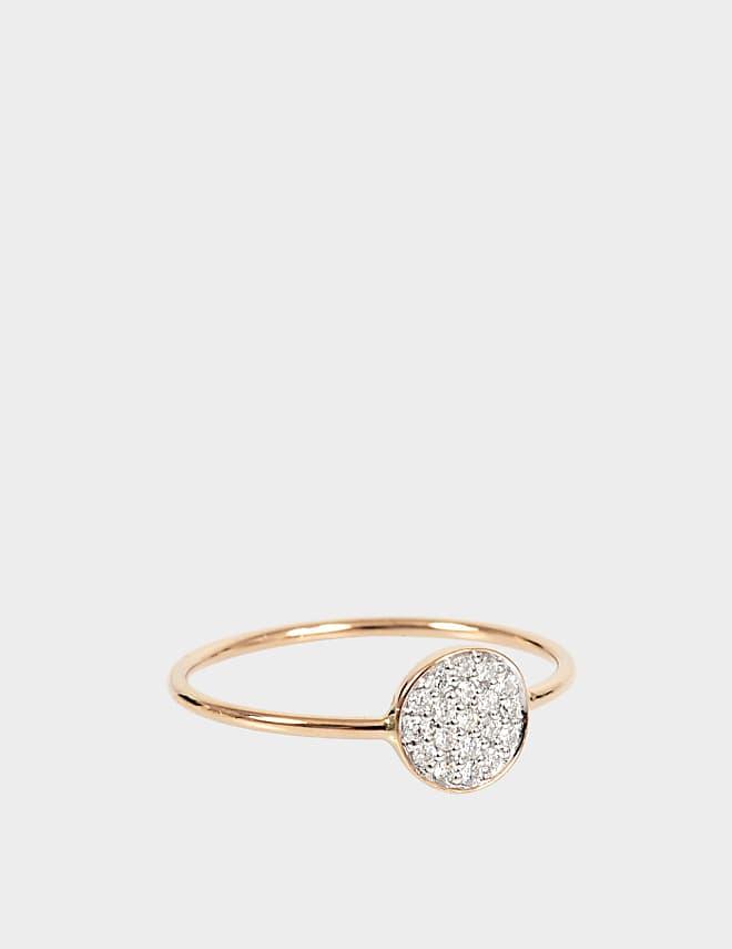 Mini Diamond Ever 18-karat rose gold Disc ring